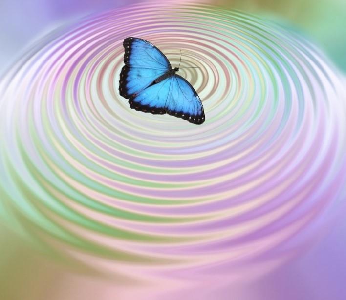 Shutterstock vlinder in spiraal water